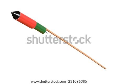 New year fireworks rocket - stock photo