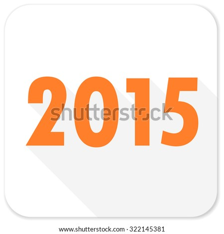 new year 2015 flat icon