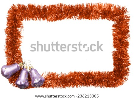 new year frame with bells - stock photo