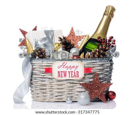 new year gift - stock photo