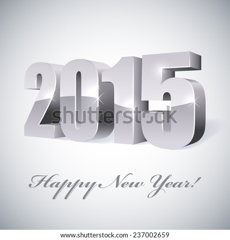 New 2015 year glossy figures illustration.  - stock photo