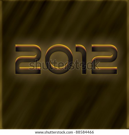 New year golden text effect - stock photo