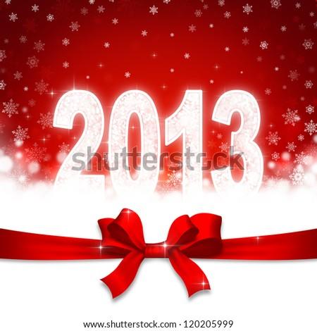 New 2013 year greeting card - stock photo
