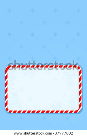 New Year greeting card on blue background - stock photo