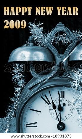 New year greetings - stock photo