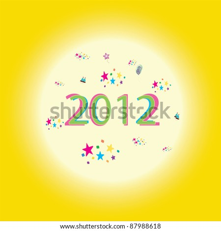 New year greetings - stock photo