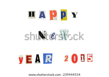 New year greetings 2015 written letters stock photo 239444554 new year greetings for 2015 written with letters from a newspaper m4hsunfo