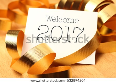 New Year Greetings Gold Decorations New Stock Photo 532894204 ...