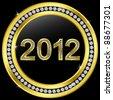 New year 2012 icon with diamonds, vector version in my portfolio - stock photo