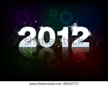 New year 2012 - illustration