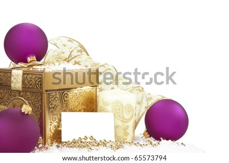 New Year Invitation Card with golden decoration