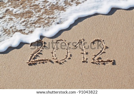 New Year 2012 is coming - stock photo