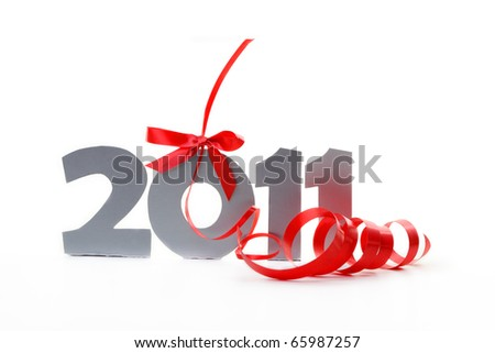 New year 2011 isolated on white background - stock photo