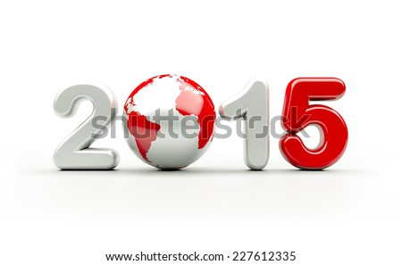 New year 2015 logo | 3d illustration