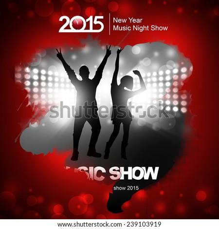 New year music show - stock photo