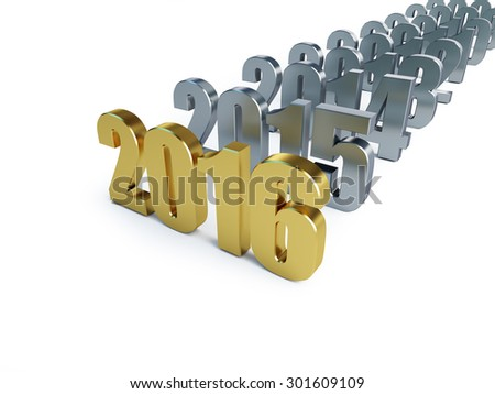 new year 2016 on a white background  - stock photo