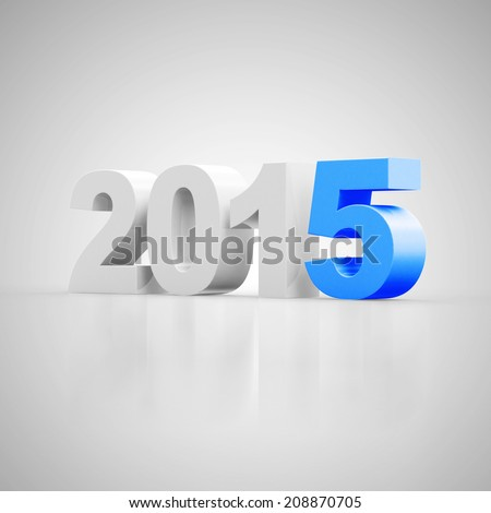 New Year 2015 on gradient background