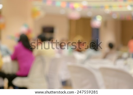 new year party blur background with bokeh