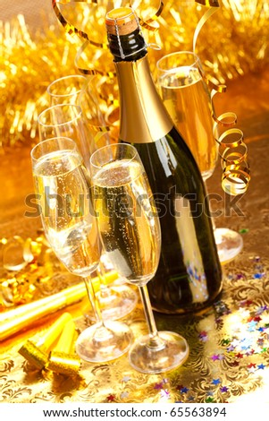 New Year - Party decoration - stock photo