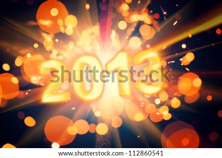 new year 2013 poster - stock photo
