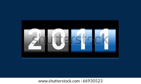 New Year realisticcounter - stock photo