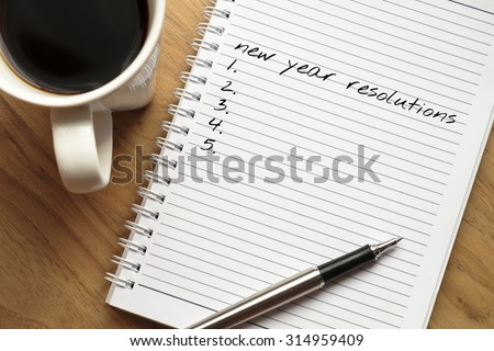 New year resolution conceptual - stock photo