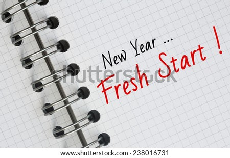 New Year Resolution, Fresh Start. - stock photo