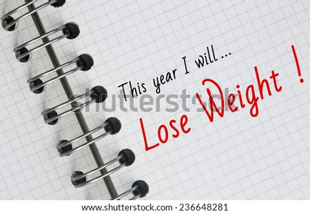 New Year Resolution, Lose Weight. - stock photo