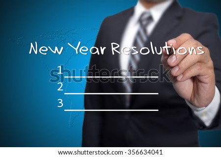 New year resolutions checklist