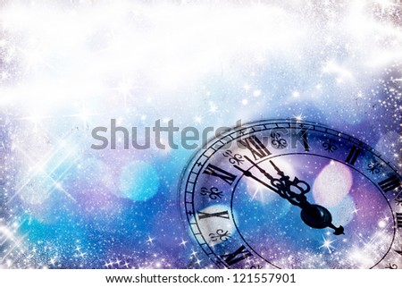 New year's at midnight - stock photo