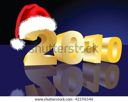 New Year's background - stock photo