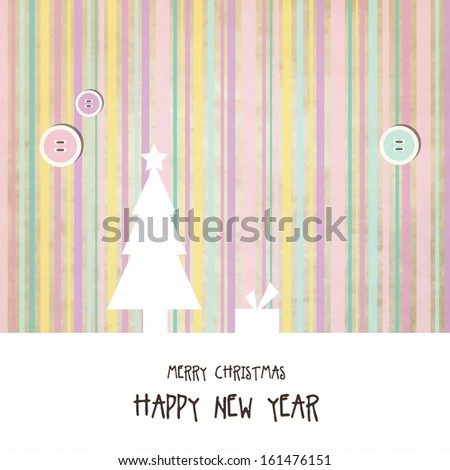 New year's card with copy space