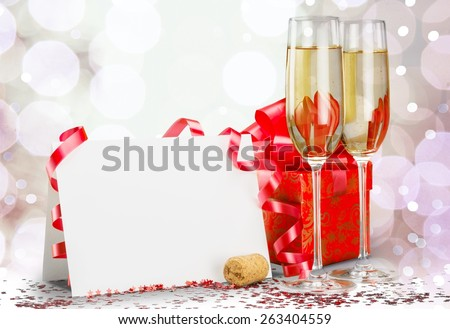 New Year's Eve, Champagne, New Year's Day. - stock photo