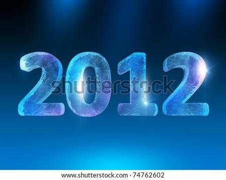 New Year's Eve 2012 (Ice figures) - stock photo