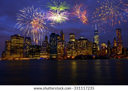 New Year's Eve in New York City, USA - stock photo