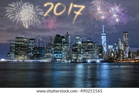 New Year's Eve in New York City, USA