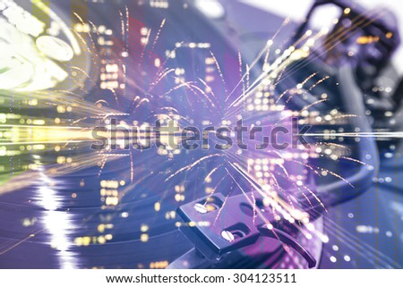New Year's Eve Party background - stock photo