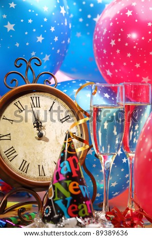 New Year's Eve Party Decoration - stock photo