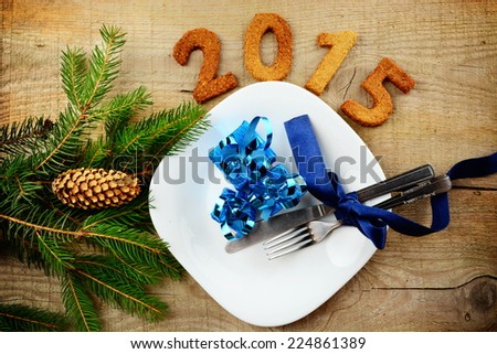 New year's Eve 2015-sylvester 2015 in blue - stock photo