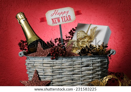 New year's gift - stock photo