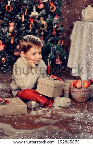 New Year's gifts - stock photo