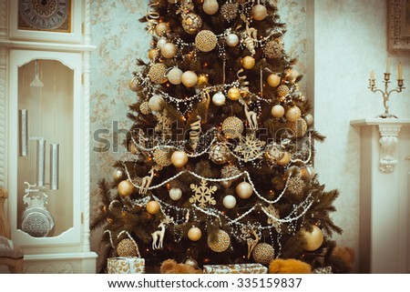 new years interior christmas tree christmas stock photo edit now