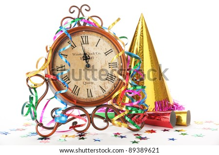 New year's party decoration. - stock photo