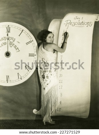 New Year's Resolutions - stock photo