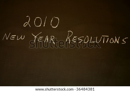 New Year's Resolutions for 2010 with copy space - stock photo