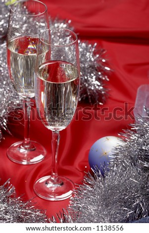 New year's still life with champagne