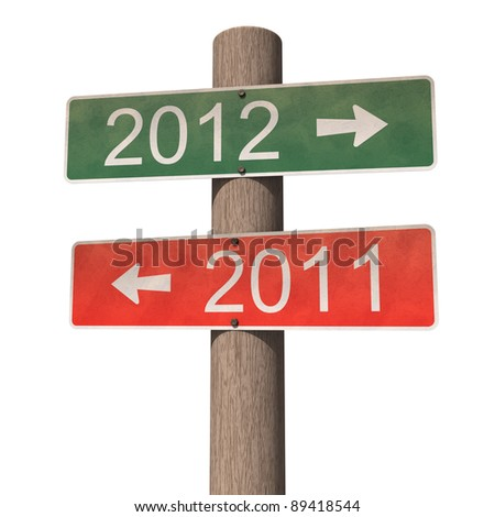 New Year 2012 sign - stock photo