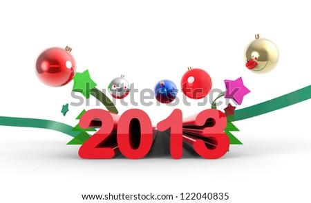 New 2013 year splash - stock photo