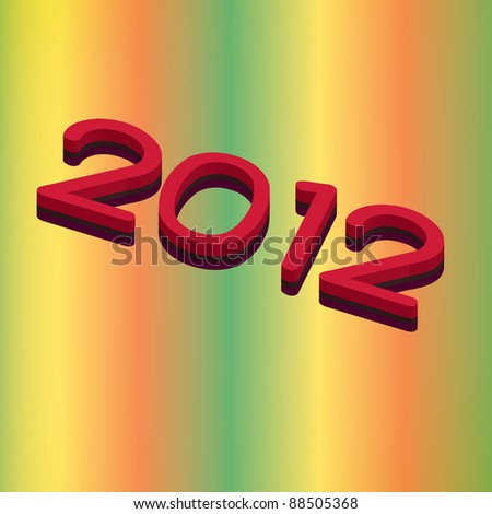 New year text effect - stock photo