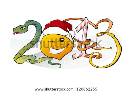 New Year 2013: The illustration of the 2013 Concept - stock photo